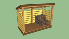Outdoor Lumber Storage Ideas