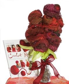 February marks the beginning of American Heart Month, and we can't think of a better way to celebrate than with daily giveaways. Beginning today, we are giving away one copy of Crochet Red each day until February 14, 2014, along with a yarn bouqu