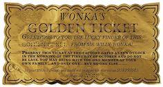 Wonka's Golden Ticket #deepcor #goldenticket #vintage #willywonka #entertainment #film #movies #classic