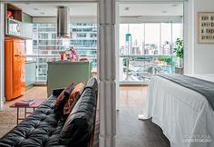 Varanda de apartamento de 38 m² vai parar na cozinha - Casa