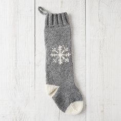 Hand-knitted in Nepal from soft wool, this cheerful stocking offers plentiful space for tiny surprises.- Wool- Spot clean only- Hanging loop: 2.75&rdq