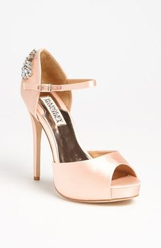 I think I just found my wedding shoes! Gorgeous! I wonder if they can be dyed?Badgley Mischka 'Nessa' Pump available at #Nordstrom