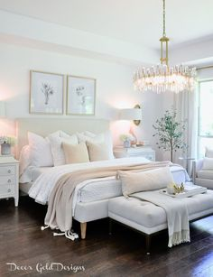 Glam Master Bedroom, Pretty Bedroom, Master Bedroom Makeover, Apartment Master Bedroom, Master Room, Master Bathrooms, Small Bathroom, Room Ideas Bedroom, Home Decor Bedroom