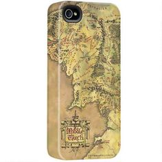 The Lord of the Rings Middle-earth Map iPhone Case - Awesome!