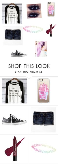 """""""Untitled #66"""" by alliykerr ❤ liked on Polyvore featuring Casetify, Converse, American Eagle Outfitters, With Love From CA, women's clothing, women, female, woman, misses and juniors"""