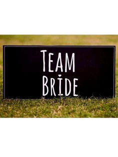 """Buy 'Team Bride' - Photo Booth Board - 8""""x 16"""""""