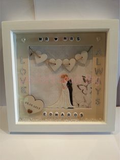 Box Frame Designed Specifically For A Personalised Wedding Gift Perfect Momento That Special Day
