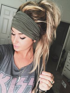 Hairstyles With Headbands Mauve Scrunch Headband Extra Wide Headband Turban Headband Extra