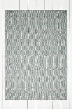 Teppich mit großem Rautenmuster in Himmelblau
