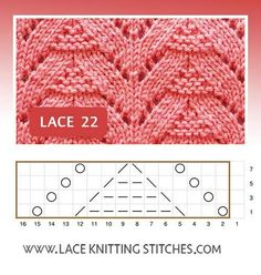 Pattern includes written instructions and chart Lace Knitting Stitches, Lace Knitting Patterns, Stitch Patterns, Lace Design, Blanket, Projects, Decor, Fashion, Knit Jacket