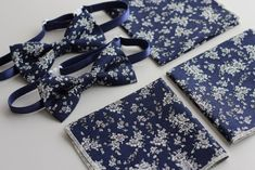 Monogrammed Pocket Squares for a Beautiful Family | by Stitched NZ Tie And Pocket Square, Pocket Squares, Floral Bow Tie, Custom Embroidery, Embroidery Techniques, Beautiful Family, Mini Me, Bow Ties, Navy And White
