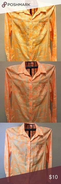Bundle 2 women's blouses 1 GAP, 1 Kirkland Bundle 2 women's Blouses. 1 GAP The Boyfriend bottom up blouse. Very colorful. Size Large. 1 Kirkland career Blouse. Gap and kirkland  Tops Button Down Shirts