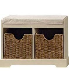 High Quality Malvern 2 Basket Monku0027s Bench Storage Unit   Ivory.£46.49 Half Price At  Argos