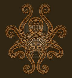 Tattoo Idea- Octopus Design by *Jeff-Bartels on deviantART