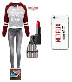 """""""school"""" by karissafire on Polyvore featuring WithChic, Converse, Henri Bendel, Miss Selfridge and NARS Cosmetics"""