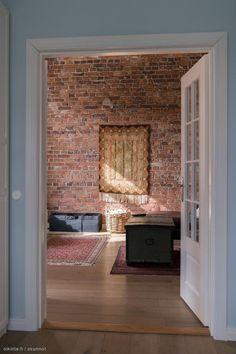 Soft loft style with pastel colors and old brick wall House, Old Brick Wall, Deco, Loft, Apartment, Home Decor, Old Bricks, Fireplace, Loft Style