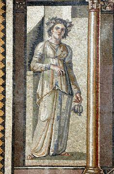 Mosaico. Arianna e Bacco (dettaglio). III secolo. Museo Archeologico Hatay. Antakya, Turchia.