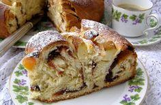 W Mojej Kuchni Lubię.. : pysznie zakręcone drożdżowe ciasto z powidłami, mo...