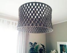 Good Free modern Macrame lamp shades Suggestions Items similar to Knitschka Macrame Lamp Shade on Etsy Shabby Chic Lamp Shades, Modern Lamp Shades, Macrame Art, Macrame Projects, Macrame Modern, Lampe Crochet, Lamp Shade Crafts, Handmade Lamps, Rustic Lamps