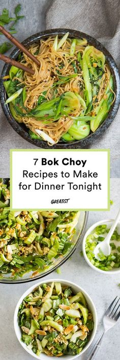 7 Bok Choy Recipes That Prove It Should Be the Next Trendy Green Veg - Bok Choy recipes to make for dinner tonight Seafood Recipes, Soup Recipes, Vegetarian Recipes, Cooking Recipes, Healthy Recipes, Drink Recipes, Dinner Recipes, Vegetable Dishes, Veggies
