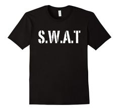 Swat T-shirt Swat Team Cop Police Officer-Snipper- Halloween