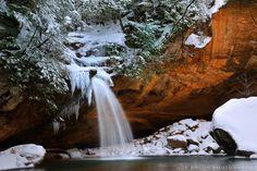 Old Man's Cave during Winter (Hocking Hills) © 2010 Joe Braun Photography