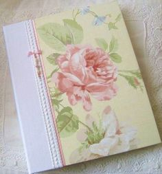 Photo Album  Country Garden Blush Rose with Beaded by Daisyblu, $58.00 Makes a wonderful gift idea for that special person in your life