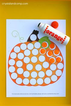 Are you ready for some new do a dot printables? This month our packet will focus on pumpkins which is perfect for fall! We love activities for kids that make Autumn Activities For Kids, Fall Preschool, Preschool Learning Activities, Fall Crafts For Kids, Halloween Activities, Toddler Activities, Preschool Activities, Letter P Activities, Time Activities