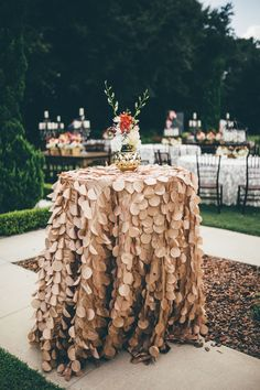 Southern glam table decor   Image by  Amber Phinisee