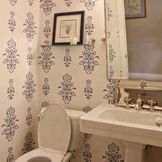 Schumacher Wallpaper (close the toilet lid)