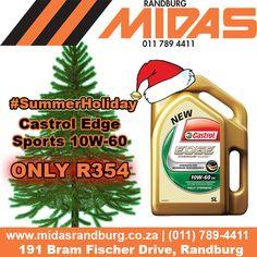 #Randburg #MIDAS #SummerHoliday Promo: @Castrol_SA Edge Sports Intelligent Oil ONLY R354