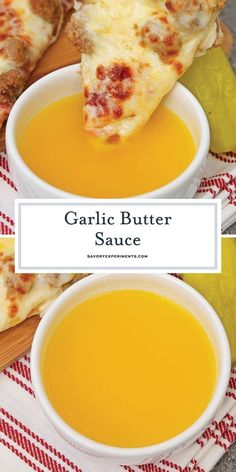 If you've ever wondered how to make garlic butter sauce, wonder no more. This re… If you've ever wondered how to make garlic butter sauce, wonder no more. This recipe is just like the Papa John's dipping sauce for pizza or breadsticks! Garlic Sauce For Pizza, Garlic Dipping Sauces, Homemade Garlic Butter, Garlic Butter Sauce, Homemade Sauce, Garlic Sauce Recipes, Butter Sauce For Pasta, Garlic Butter Recipe For Pizza, Papa Johns Garlic Sauce