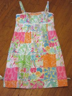 LILLY PULITZER ORIGINALS Mint Julep DERBY Triple Crown Horse Race Sun Dress 0 #LillyPulitzer #Sundress #SummerDress #LillyPulitzerOriginal #MiniDress #Derby #TripleCrown #Patchwork