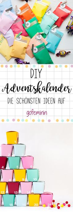 DIY advent calendar: over 50 ideas for tinkering - from one .- We will show you the most beautiful DIY advent calendar ideas from simple to unusual on gofeminin. Advent Calenders, Diy Advent Calendar, Countdown Calendar, Calendar Ideas, Feliz Hanukkah, Happy Hanukkah, Diy Gifts For Dad, Easy Diy Gifts, Diy Christmas Gifts