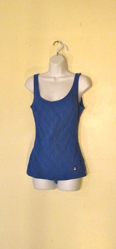 ROYAL BLUE One Piece HERMA Swimsuit by BeauMondeVintage on Etsy, $36.00