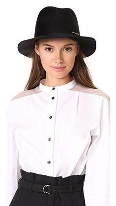 50691f5a0fcf8 JANESSA LEONE Lane Fedora Hat.  janessaleone  hat Pin Logo