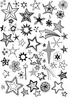 Doodle Stars royalty-free doodle stars stock vector art & more images of 2015