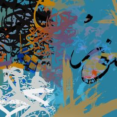 Chroma Calligraphic 02 by Khalid Shahin. Buy now from $440 at g-1.com. Strictly limited editions of just 30 prints.
