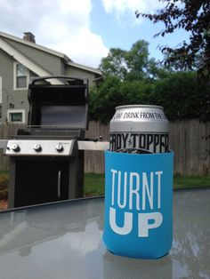 TURNT UP Beer Coozie by nateduval on Etsy, $4.00