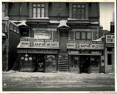 Montreal Police said a brothel was located inside this building on rue Guy when it was raided in 1940 Old Montreal, Montreal Ville, Montreal Quebec, Biloxi Blues, Somewhere In Time, Mug Shots, Abandoned Places, Historical Photos, Backdrops