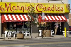 Chicago, IL - Margie's Candies.  A venerable Chicago institution known far and wide, Margie's Candies has delighted young and old with their homemade sundaes, shakes and hand-dipped candies since 1921.