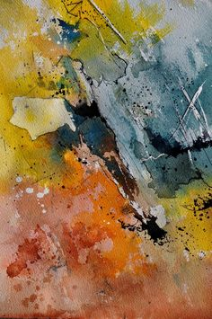 "Pol Ledent; Watercolor,""abstract 110151"""