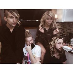 Kirstie's extensions look great on all of them... except kev