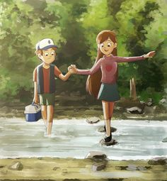 Dipper Pines,Mabel Pines Sorry about all the Gravity Falls pins I've been watching it a lot today Gravity Falls Anime, Gravity Falls Fan Art, Gravity Falls Comics, Gravity Falls Dipper, Gravity Falls Journal, Dipper Und Mabel, Dipper Pines, Mabel Pines, Billdip