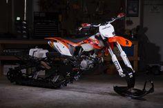KTM 450 XC Timbersled snow bike – David McClures « 450Sxf « DERESTRICTED