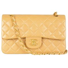 Chanel 2.55 yellow shoulder bag