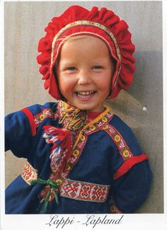 Finland - Lapland child in  Traditional Clothes