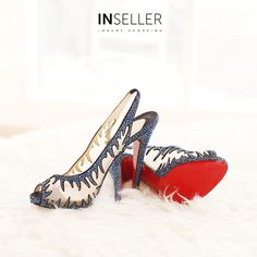 All you need to stand out is this stunning Christian Louboutin Mesh Blue Maralena Strass Pump (size 38) and its available at inseller.com! Shop at inseller.com! WhatsApp: +971 55 538 1518 Showroom: 19A Al Habtoor Business Tower Dubai Marina, UAE  #inselle