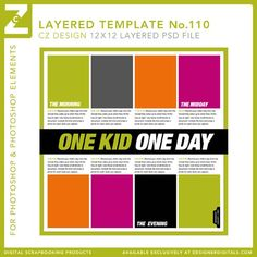 Have to do this one day! Cathy Zielske's Layered Template No. 110 - Digital Scrapbooking Templates