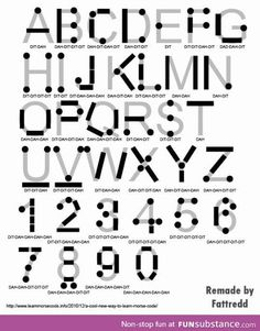 Funny pictures about Now You Can Write Morse Code. Oh, and cool pics about Now You Can Write Morse Code. Also, Now You Can Write Morse Code photos. Alphabet Code, Braille Alphabet, Survival Tips, Survival Skills, Writing Fonts, Secret Code, Learn To Code, Morse Code, The More You Know